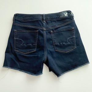 American Eagle dark wash cut off shorts